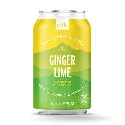 Ginger Lime Hard Kombucha Cider
