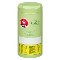 Bottle of TGOD Organics Zen Green Sencha Whole Leaf Tea