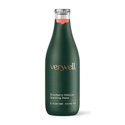 Bottle of Veryvell Strawberry Hibiscus Sparkling Water