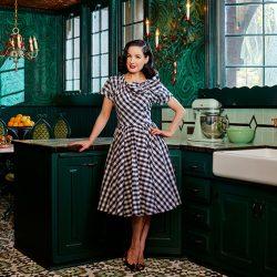 Tondra Ad Dita posing in her swanky kitchen