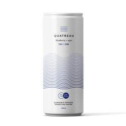 Quatreau Blueberry + Acai Sparkling Water
