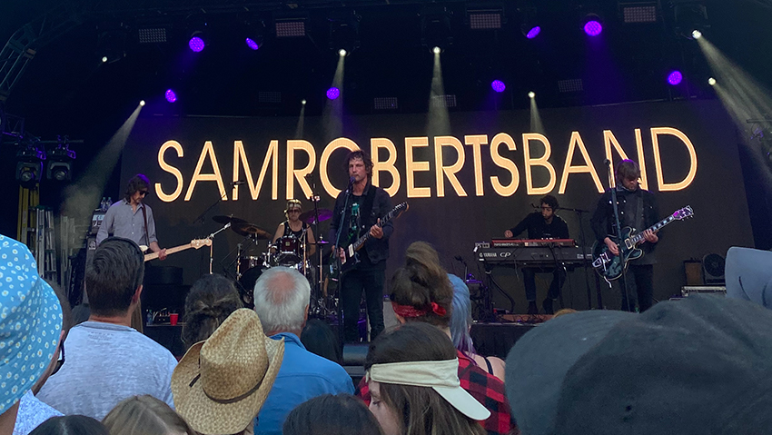 Sam Roberts band on stage