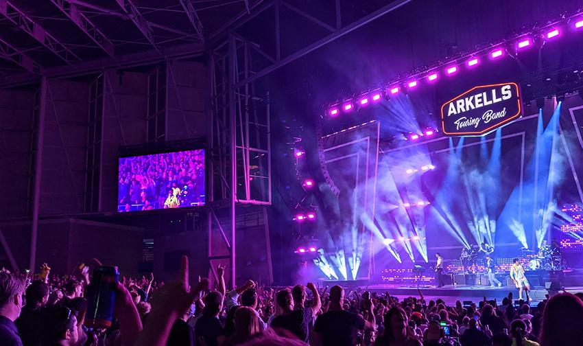 Crowd enjoying Arkells concert at Budweiser Stage