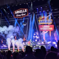 Arkells performing on the Budweiser stage