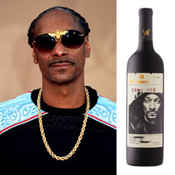 Snoop Dogg and a bottle of his Cali Red 2019 wine.