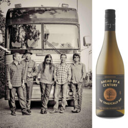The Tragically Hip and a bottle of their Chardonnay